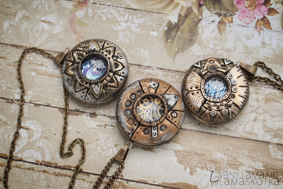 Steampunk Lockets and a Dragon :) Sekretniki i Smok