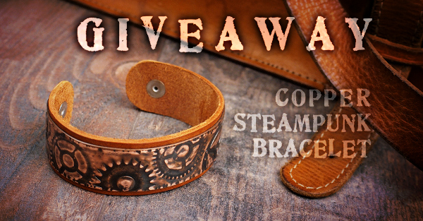 GIVEAWAY! Copper Steampunk Bracelet